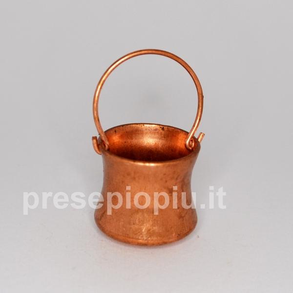 Paiolo in metallo cm 2x2 accessori in miniatura for Cucina quadrata 2x2