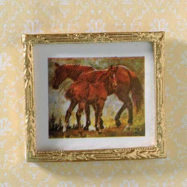 Quadro con cavalli cm.5x4,5 : Accessori Vari Quadri e cornici su ...