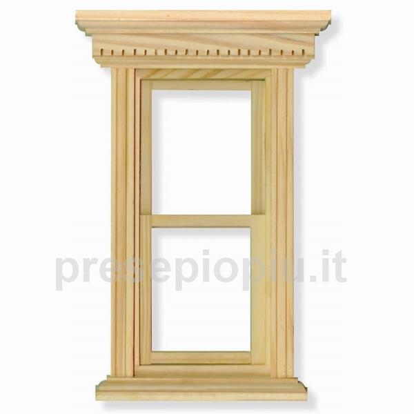 Finestra a ghigliottina cm 9 7x14 7 legno componenti porte e finestre su - Finestre a ghigliottina ...