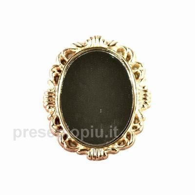 Specchio ovale cm 4 8x4 accessori vari specchi su - Lucidare metallo a specchio ...